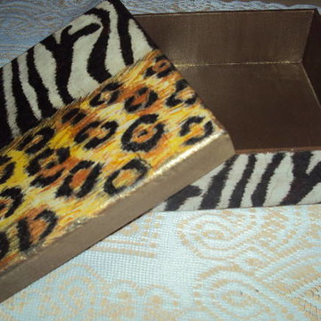 Caixa Animal print