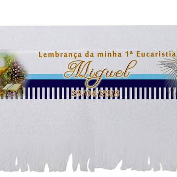 Lembrancinha de Eucaristia - Brinde Eucaristia - Toalha