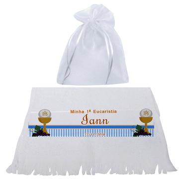 Toalhinha com Saco de Organza - Eucaristia - 1º Eucaristia