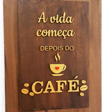 Quadro Decorativo Rústico - Café