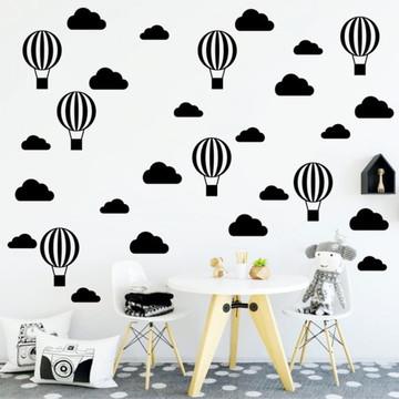 Adesivo De Parede Balões E Nuvens Frete Grátis