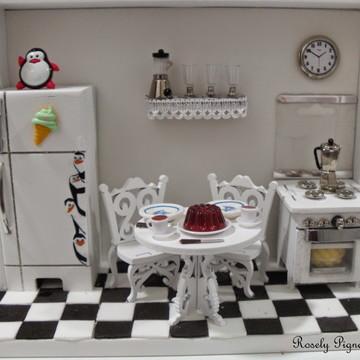 quadro miniatura cozinha