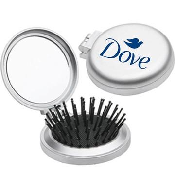 100 Espelho de Bolso com Escova de Cabelo Personalizado