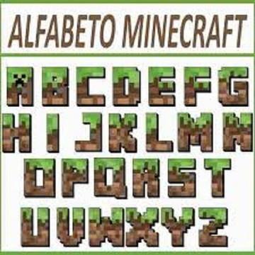 Alfabeto Silhouette Minercraft