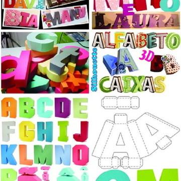 Alfabeto 3d Silhouette