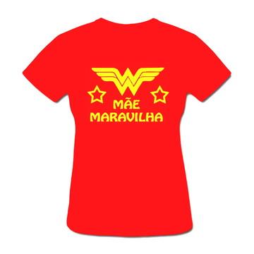 Camiseta Mulher Maravilha Mãe Maravilha
