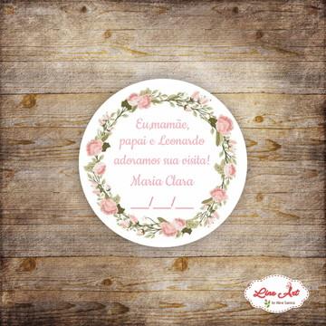 Tag agradecimento - Maternidade floral