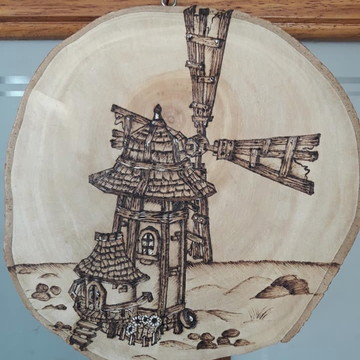 Quadro de bolacha de madeira