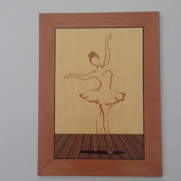 """Ballet"" Quadro de Marchetaria"