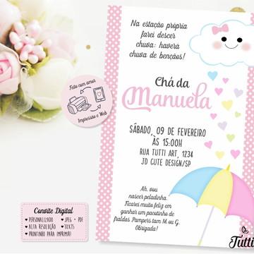 Convite Chuva de Bençaos - Chuva de Amor Digital