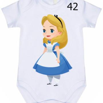 Body Infantil Personalizado Alice #42 (colocamos o nome)