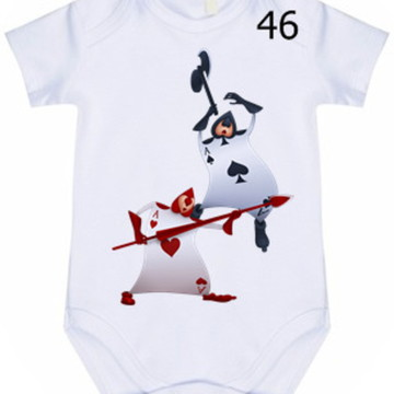 Body Infantil Personalizado Alice #46 (colocamos o nome)