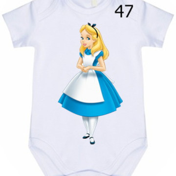 Body Infantil Personalizado Alice #47 (colocamos o nome)