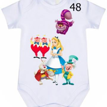 Body Infantil Personalizado Alice #48 (colocamos o nome)