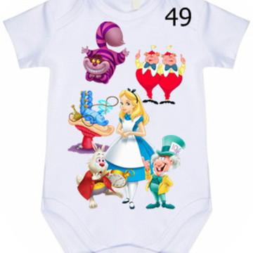 Body Infantil Personalizado Alice #49 (colocamos o nome)