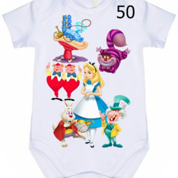 Body Infantil Personalizado Alice #50 (colocamos o nome)