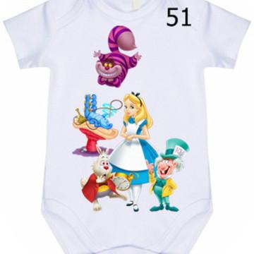 Body Infantil Personalizado Alice #51 (colocamos o nome)