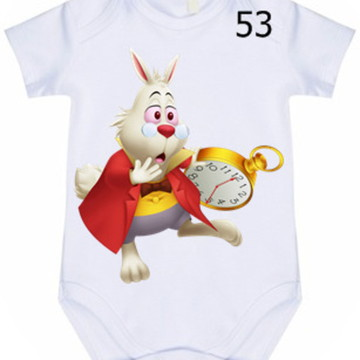 Body Infantil Personalizado Alice #53 (colocamos o nome)