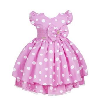 Vestido de Festa Minnie Rosa