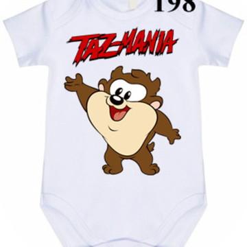 Body Personalizado Taz Mania #198 (colocamos o nome)