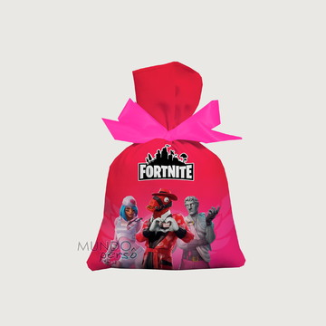 Saquinho Fortnite Seasons 15cm X 20cm