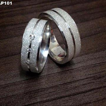 Aliança de Namoro em prata