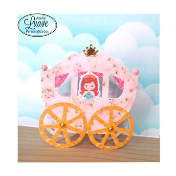 carruagem do kit festa infantil Princesa Cute