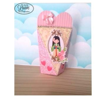 caixa coração do kit festa infantil Princesa Cute