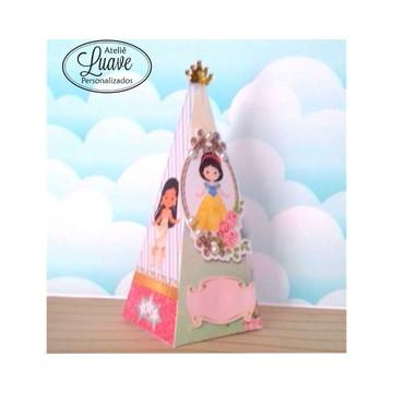 caixa Piramide do kit festa infantil Princesa Cute