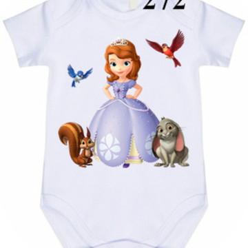 Body Personalizado Princesa Sofia #272 (colocamos o nome)