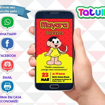 Convite Magali Digital Para Whatsapp