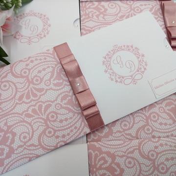 Convite de casamento - Papel Madeira