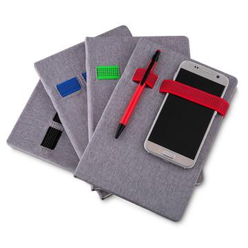 Caderno porta caneta e celular tecido sintético 14036