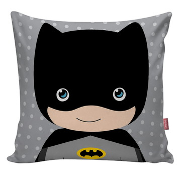 Capa De Almofada Super Heroi Cute Quarto Infantil Batman 01