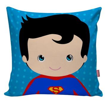 Capa Almofada Super Heroi Cute Quarto Infantil Superman 01