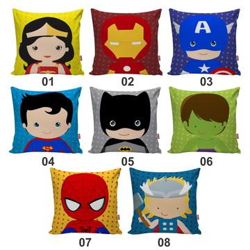 Capa De Almofada Super Heroi Cute Infantil Escolha A Sua