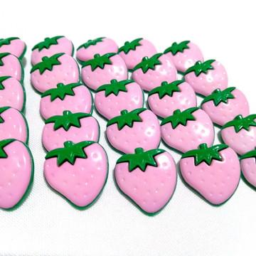 10 botões infantis Morango rosa para laços pet