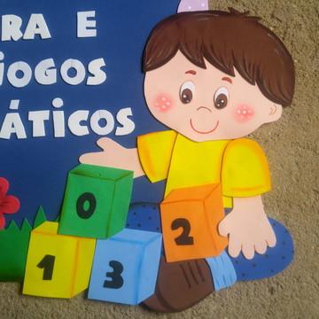 Cantinho da Leitura e jogos matemáticos em EVA - Crianças