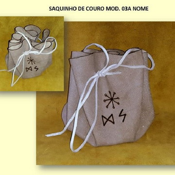 SAQUINHO DE COURO MOD. 03A NOME