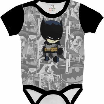 Body Bebê Camisa Infantil Personalizada Batman DC 15 HD