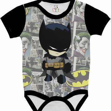 Body Bebê Camisa Infantil Personalizada Batman DC 16 HD