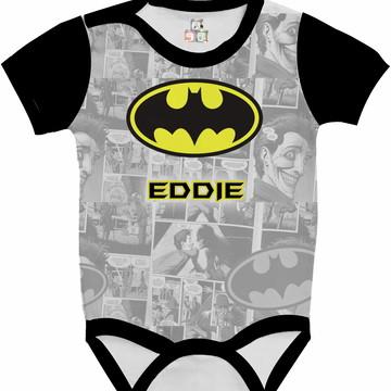 Body Bebê Camisa Infantil Personalizada Batman DC 17 HD