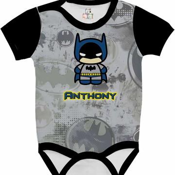 Body Bebê Camisa Infantil Personalizada Batman DC 20 HD