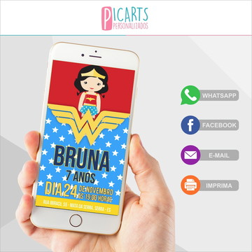 Convite Digital Mulher Maravilha 01