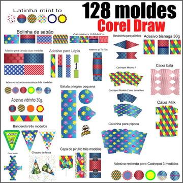 Moldes Kit festa vetorizado Corel Draw (128 moldes)