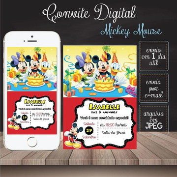 Convite Virtual - Mickey Mouse 02