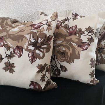 Almofadas Floral Marrom e Bege!