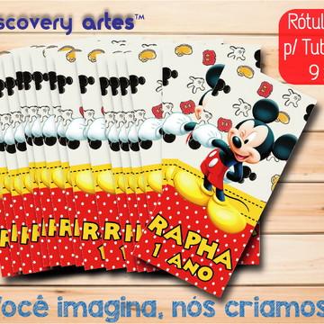 Rótulo Adesivo Tubete Mickey