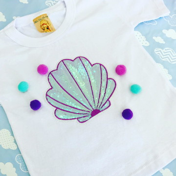 4f34bab0d Camiseta concha sereia