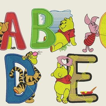 Matriz-Pacote Alfabeto (Ursinho Pooh)